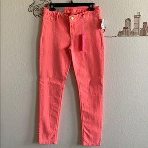 NWT Charlotte Russe Refuge Pink Skinny Jeans